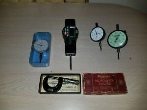 Lot Of 5 Guages Federal Cdi Mitutoyo Dial Indicator