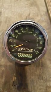 Checker Cab Speedometer 120mph Stewart Warner