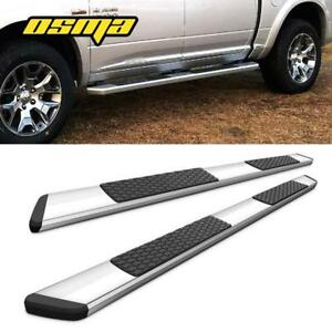 For 2019 Ram 1500 Crew Cab Oe Style Running Boards Polished Nerf Bars Side Step