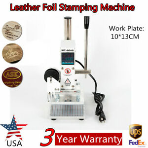 Digital Display Hot Foil Stamping Machine 10 13cm Leather Paper Pu Embossing Usa