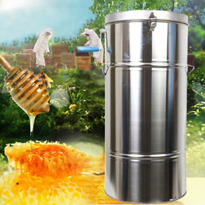 Stainless Steel 2 Frame Honey Extractor Manual Beekeeping Equipment Honeycomb Us