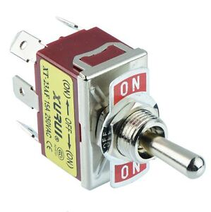on off on Momentary Dpdt Toggle Switch 250v Ac 15a