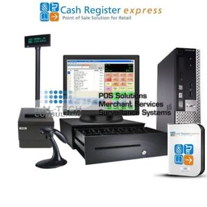 Pcamerica Cre Cash Register Express Convenience Store Pos System I3 4gb W pole