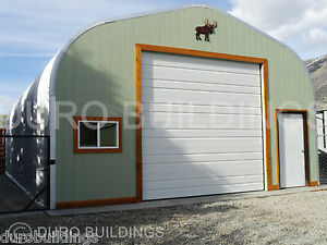 Durospan Steel 30x34x14 Metal Garage Shop Building Kit Open Ends Factory Direct