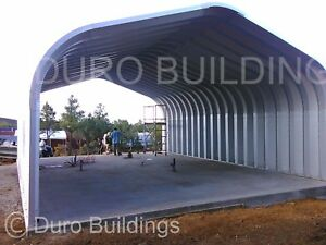 Durospan Steel Gp20x30x12 Metal Building Cover Carport Open Ends Factory Direct