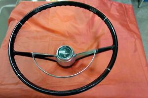 1964 1967 Corvair Monza Steering Wheel With Horn Contacts Used