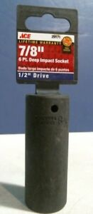Ace 29171 7 8 6 Point Deep Impact Socket 1 2 Drive Free Shipping