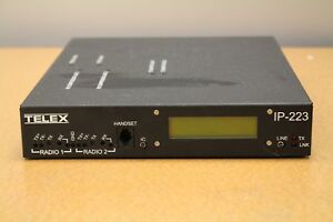 Telex Model Ip 223 Dual Ethernet Remote Adapter Panel