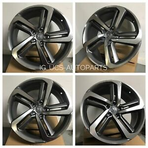 New 19 Hfp Accord Sport Gunmetal Wheels Rims Fits Honda Acura Set Of 4