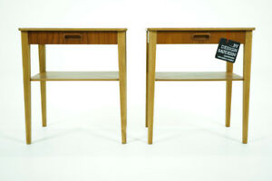 Danish Mid Century Modern Vintage Pair Of Teak Bedsides Nightstands 311 142