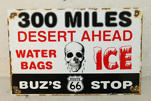 Vintage Style Route 66 Buz s Porcelain Signs Country Store Advertising