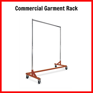Commercial Garment Z Rack Rolling Clothes Construction Durable Hanging Organize