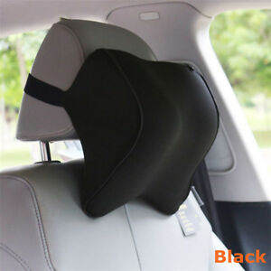Car Neck Pillow Auto Back Head Rest Memory Foam Fabric Travel Support Cushion