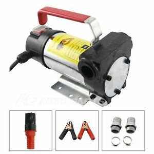 Portable Oil Diesel Transfer Pump 12 Volt Dc Fuel Self Priming 45l