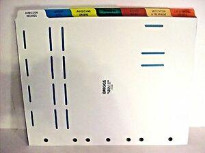 Briggs d5496 14 Tab Letter Size Long Term Filing Tab Dividers Poly S