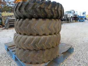 4 7 00x15 Bobcat Skid Steer Tires Wheels 8 Lug 6 Ply Titan