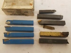 Lot Of 9 Carbide Bit Turning Lathe Bits Ar6 3 8
