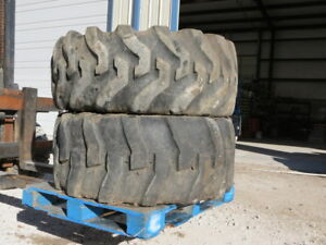 2 Used 21l 24 Tires Backhoe Loader Caterpillar John Deere Case Jd Cat