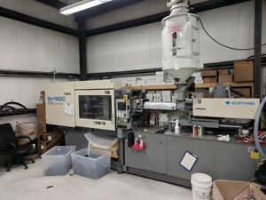 Sumitomo Sh160c Used Injection Molding Machine 176 Ton 1998 Under Power In Use