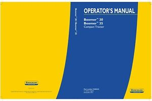 New Holland Boomer 30 35 Compact Tractor Operators Manual