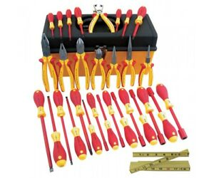 Wiha 32896 31 Piece Insulated Master Electrician Tool Box Pliers Drivers Cutters