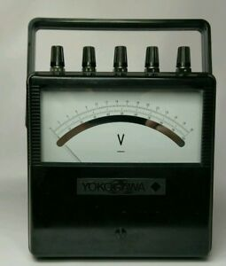 Vintage Yokogawa Electric Works Type 2011 Portable Analog Voltmeter 0 100v
