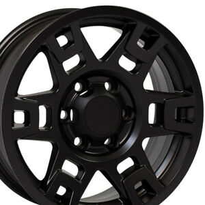 17 Rims Fits Toyota Trucks 4runner H Spoke Trd Matte Black Wheel 75167 Set