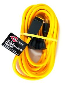 Briggs Stratton 30 Amps Generator Adapter Cord Set 25 Long New