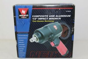 New Neiko Tools 1 2 Composite Air Impact Wrench Twin Hammer 90 Psi 31392a