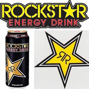 New 5 Rockstar Energy Drink Star Sticker Decal Lot Official Merchandise Bmx