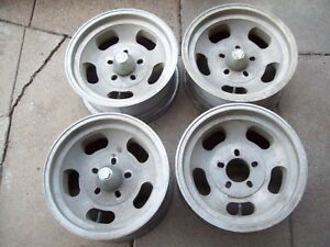 4 Chevy 5 Lug Dual Pattern 15x7 Aluminum Slot Wheels Truck Car Bolt Pattern