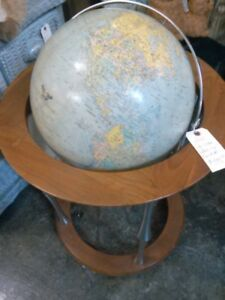 Vintage Replogle Heirloom Light Up Floor Globe