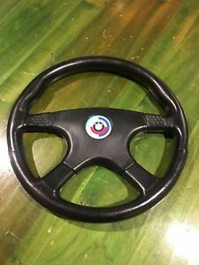 Vintage Momo Ghibli 4 Steering Wheel With Bmw Motorsport Center Insignia