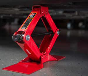 2 5 Ton Scissor Stainless Jack Lifting Wind Up Stand Table For Car Speed Handle