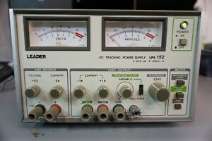 Vintage Leader Dc Tracking Power Supply Lps152