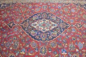6 7 X 10 7 Authentic Antique Persian Kashann Oriental Hand Knotted Wool Area Rug