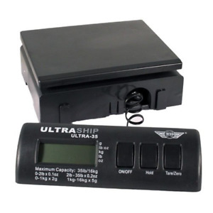 My Weigh Ultraship 35 Lb Electronic Digital Shipping Scale Black With Ultraship