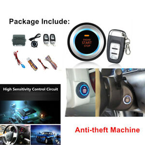 For Car Alarm System Push Button Remote Engine Start Sensor Light Stability Part