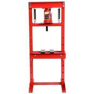 12 Ton Heavy Duty Steel H Frame Shop Press Plates Hydraulic Jack Stand Equipment