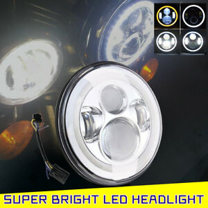 7 Inch 60w Led Headlight Lamp Projector Daymaker Motorcycle For Yamaha Road Star