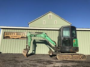 2012 Bobcat E26 Mini Excavator Enclosed Cab Heat Ac 1800 Hrs Kubota Diesel