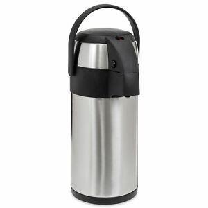5l Coffee Airpot Dispenser Thermal Thermos Hot Cold Drinks Pump Stainless Steel