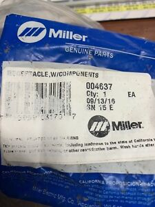 Miller Receptacle W Components Part 004637 New