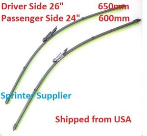 Sprinter Windshield Wiper Blades Pair 26 24 For Mercedes Dodge 2007 2017