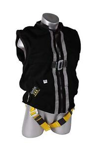 Guardian Fall Protection 02610 Construction Tux Harness Vest Black medium