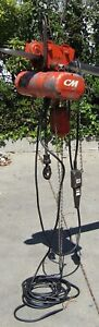 Cm 1 4 Ton Electric Chain Hoist Series 627 With Trolley 230v 3 Phase