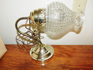 Vintage Brass Wall Light Glass Lamp Shade