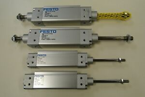 Lot Of 4 New Festo Stainless Air Pneumatic Cylinders Dzh