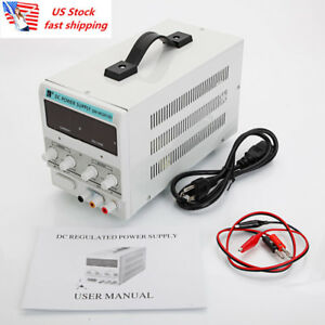 Us 30v 10a Adjustable Dc Stabilizer Regulated Power Supply power Line manual New
