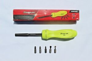 Snap On Tools High Visibility Ratcheting Screwdriver Standard Handle Brand New